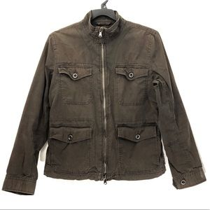 Kenneth Cole Full Zip Military Utility Jacket